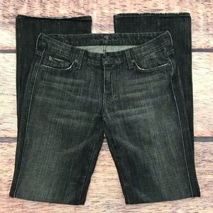 7 For All Mankind the A Pocket Black Jeans Bootcut